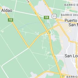 Mapa de Google de Municipio de Puerto General San Martín