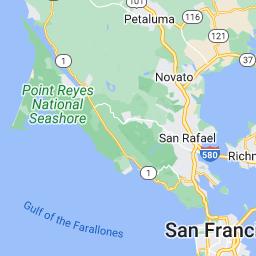 Mapa do Google da Alameda County, região / MelhoresRotas com